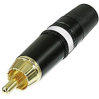 Rean AV NYS373-9 RCA connector Plug, straight Number of pins: 2 Black, White 1 pc(s)