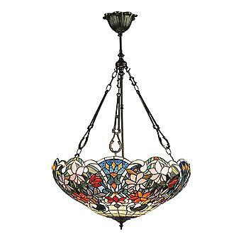 Interiors 1900 Sullivan Rich Tiffany Blumendesign invertiert Pendelleuchte Schatten