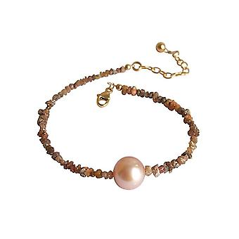 Diamants et or rose bracelet de perles plaquées champagne