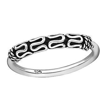 Bali - 925 Sterling Silver Plain Rings - W37861x