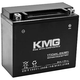 KMG YTX24HL-BS Battery For Arctic Cat 650 Prowler 650 2006-2010 Sealed Maintenance Free 12V Battery High Performance OEM Replacement Powersport Motorcycle ATV Scooter Snowmobile Watercraft KMG