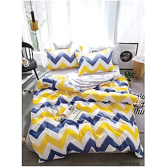 Sunny Chevron Zigzag Multi Color Duvet Quilt Cover Bedding Set with Pillow Case
