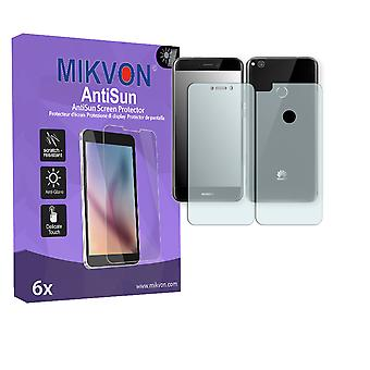 Huawei P8 Lite (2017) Screen Protector - Mikvon AntiSun (Retail Package with accessories) (3x FRONT / 3x BACK) (intentionally smaller than the display due to its curved surface)