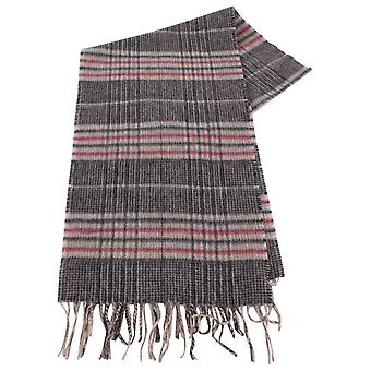 Bassin and Brown Bergkamp Checked Cashmere Scarf - Beige/Grey/Red