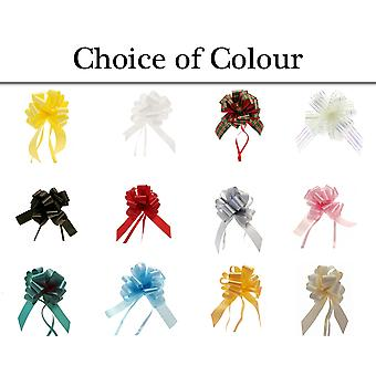 Single 31mm Ribbon Quick Pull Bow for Floristry & Gift Hampers - Colour Choice