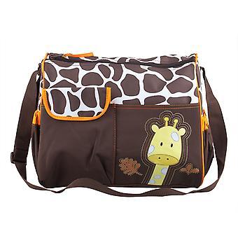 TRIXES Giraffe Baby Wickeltasche einschließlich des Änderns Matte und klare Zubehörbeutel