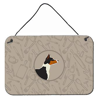 Basenji In the Kitchen Wall or Door Hanging Prints
