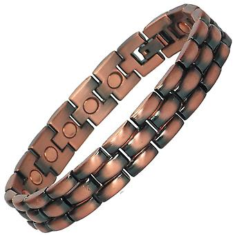 MPS® MOHIE Mens Copper Rich Magnetic Bracelet + Free Links Removal Tool