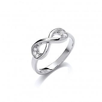 Cavendish franske sølv og Cubic Zirconia Infinity Ring