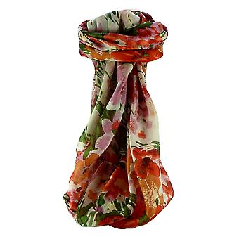 Mulberry Silk Contemporary Square sjaal Floral F225 door Pashmina & Silk