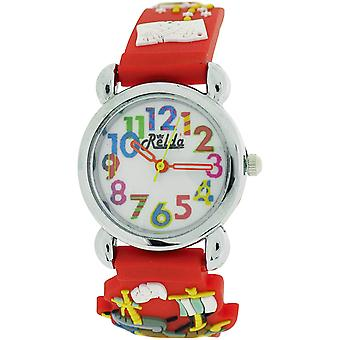 Relda Childrens Girl's/Boy's Pirates A'hoy Red Silicone Strap Watch REL104