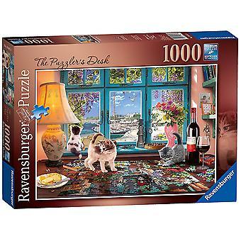 Ravensburger Puzzler reception, 1000pc Jigsaw Puzzle