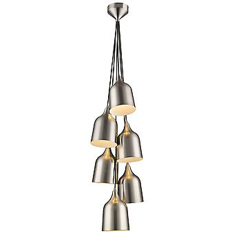 Spring Lighting - Torquay Satin Nickel Six Light Pendant  DSPG030TO6QFOE