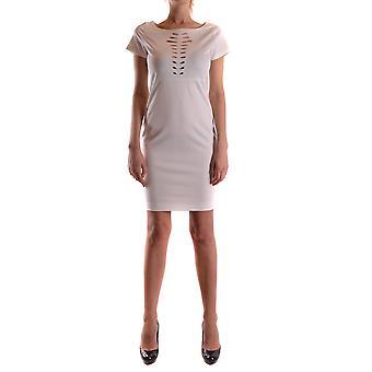 Pinko White Viscose Dress