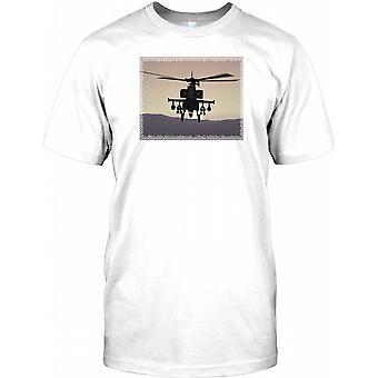 Apache gesperrt und geladen - genial Hubschrauber-T-Shirt für Herren
