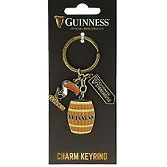 Llavero de Guinness con tucán, barril y almacén muestra encantos (sg 5640)