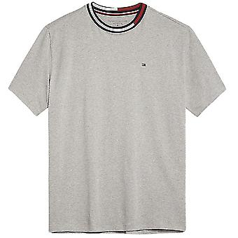 Tommy Hilfiger Signature Tape Short Sleeved Crew Neck T-Shirt, Grey, X-Large