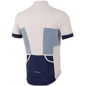 Pearl Izumi Blue-White Elite Escape Short Sleeved Cycling Jersey