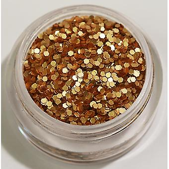 1er à six pans creux paillettes doré/marron (mat)
