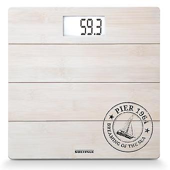 63845 bambus Soehnle digital bad skalerer hvit