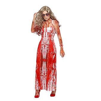 Bloody Prom Queen costume dress Halloween Carnival bloody Prom Queen