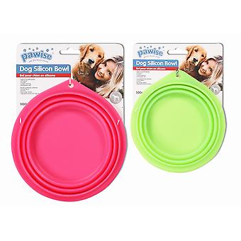 Pawise Comedero Plegable de Silicona 500 ml (Dogs , Bowls, Feeders & Water Dispensers)