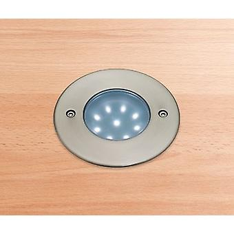 Firstlight-LED 9 licht walkover verzonken licht roestvrijstaal, witte IP68-1806WH