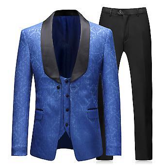 Allthemen Men's Tuxedo Suit 3-Pieces Mariage Slim Fit Costume Robe Blazer-Vest-Pants