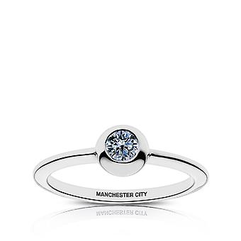 Manchester City Fc Manchester City Engraved White Sapphire Ring