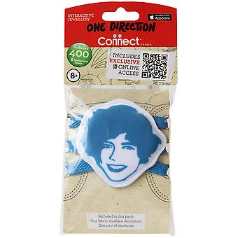 1d Tissu Shoelace Biter Harry Blue One Direction