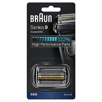 Braun 92B serie 9 elektrische scheerapparaat vervanging cassette cartridge folie-zwart