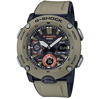 Montre Casio GA-2000-5AER - Multifonction R�sine Beige Carbon Core Guard Structur Homme