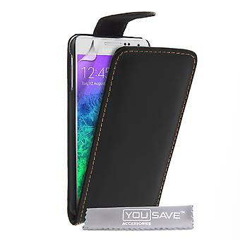 YouSave Samsung Galaxy LeatherEffect Alpha Flip Case Black