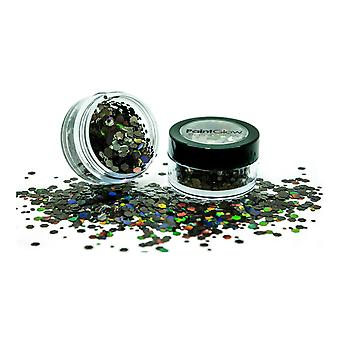 PaintGlow Holographic Chunky Glitter Shaker Black Star