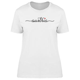 Austria Calligraphy With Heart Tee Women's -Image by Shutterstock
