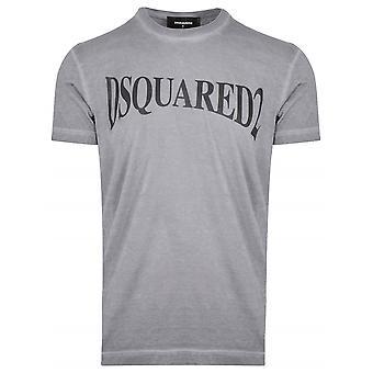 T-shirt Dsquared2 DSQUARED2 Grey Logo Print