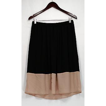 Pleine Skirt Color Blocked Lined Pull On Beige / Black