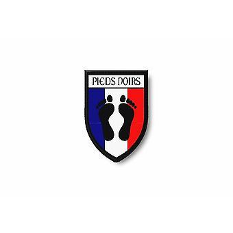Patch Ecusson Termocollant Bord Brode Drapeau Imprime France Pieds Noirs