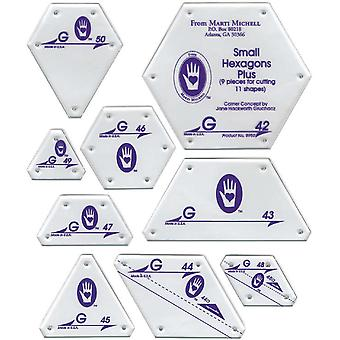 Perfect Patchwork Template Set G  Small Hexagon Set 9 Pkg 8950M