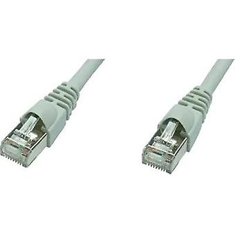 RJ49 Networks Cable CAT 5e F/UTP 1 m Grey Flame-retardant, incl. detent Telegärtner
