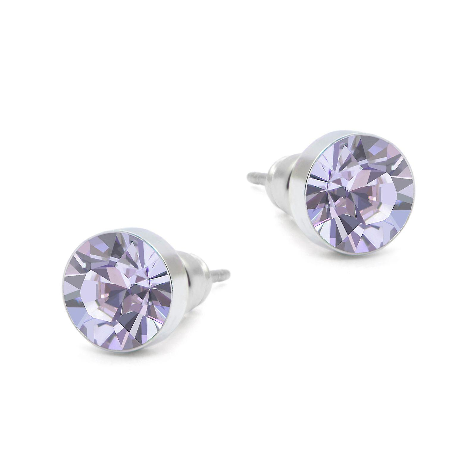Violet Swarovski earrings EMB8.3