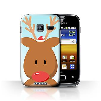 STUFF4 Case/Cover for Samsung Galaxy Y Duos/S6102/Rudolph/Reindeer/Christmas Character