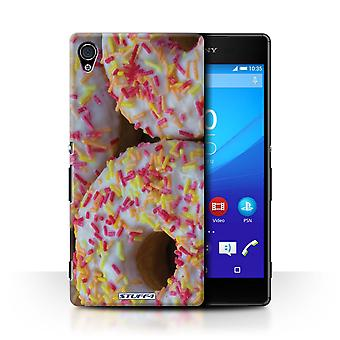 STUFF4 Case/Cover for Sony Xperia Z4v/E6508/White Glazed/Tasty Donuts