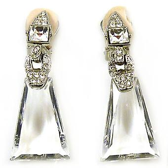Kenneth Jay Lane Cristal Deco Boucles d'oreilles clips