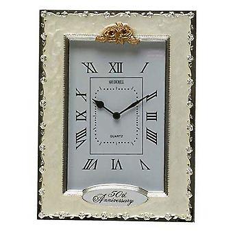 Clocks - 50th Anniversary Golden Wedding Celebration Quartz Table Clock