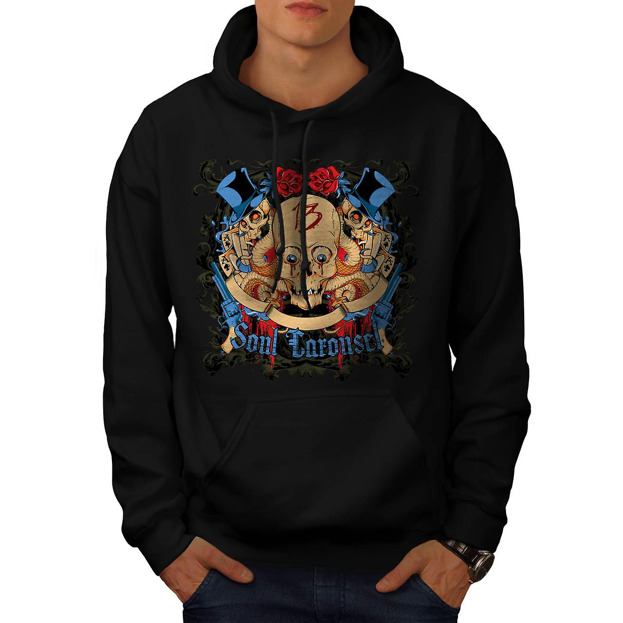 Soul Carousel Skull Terror Ride Men Black Hoodie | Wellcoda