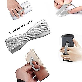 ONX3 (Silver) Huawei P10 Plus Universal Anti-Slip Elastic Finger Mobile Phone Grip Holder With Strong Adhesive