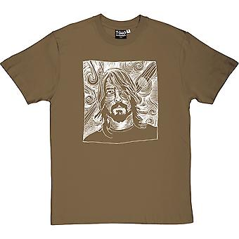 Dave Grohl Woodcut Men's T-Shirt