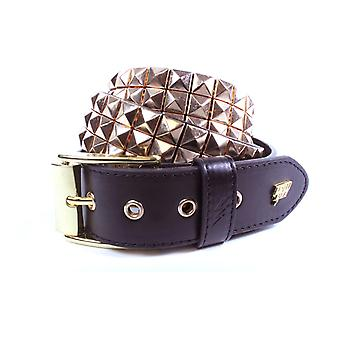 Triple S Studded Faux Leather Belt
