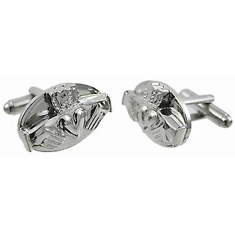 Stainless Steel Claddagh Cufflinks Cuff Links Irish